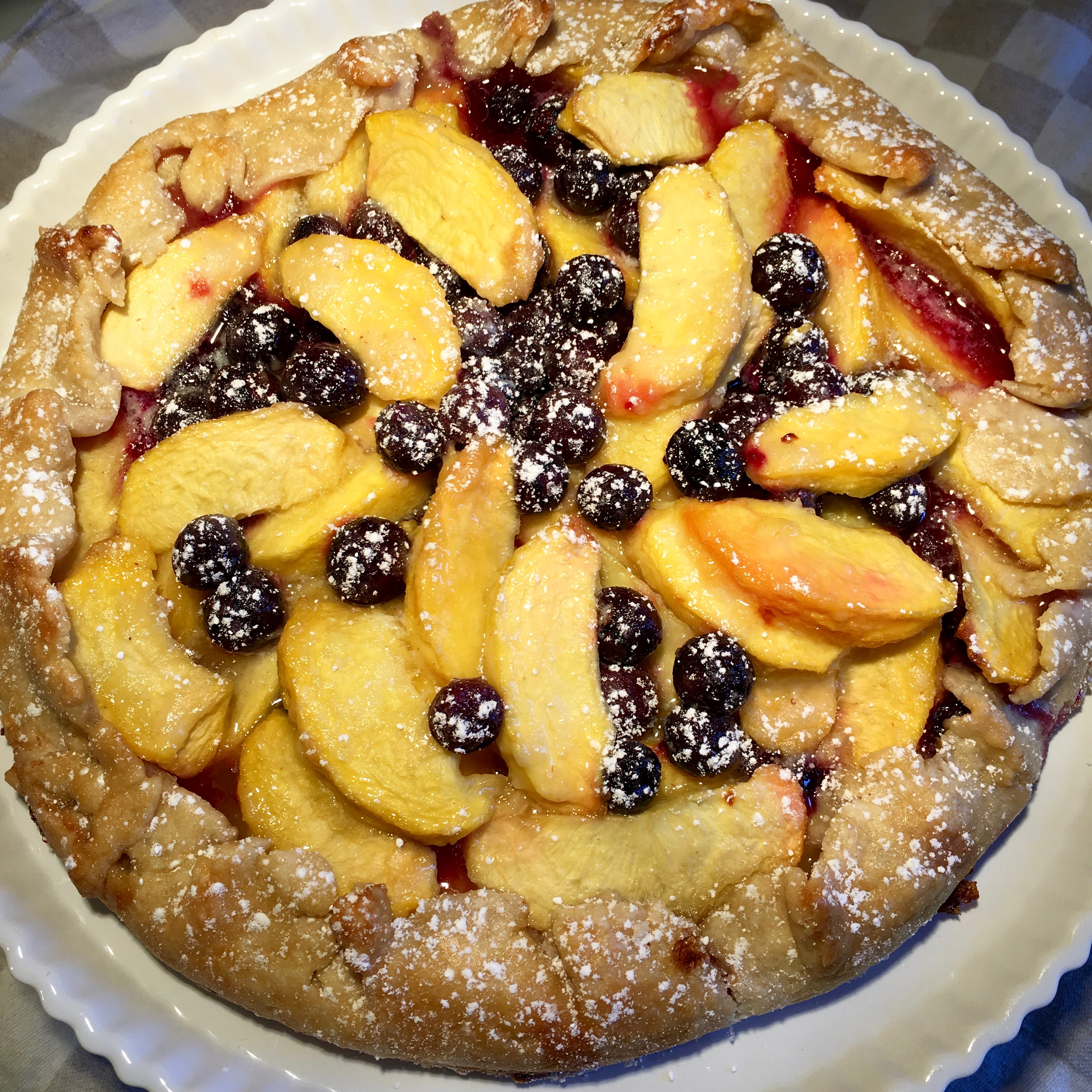 A Rustic Peach and Blueberry Pie · Just Savor It