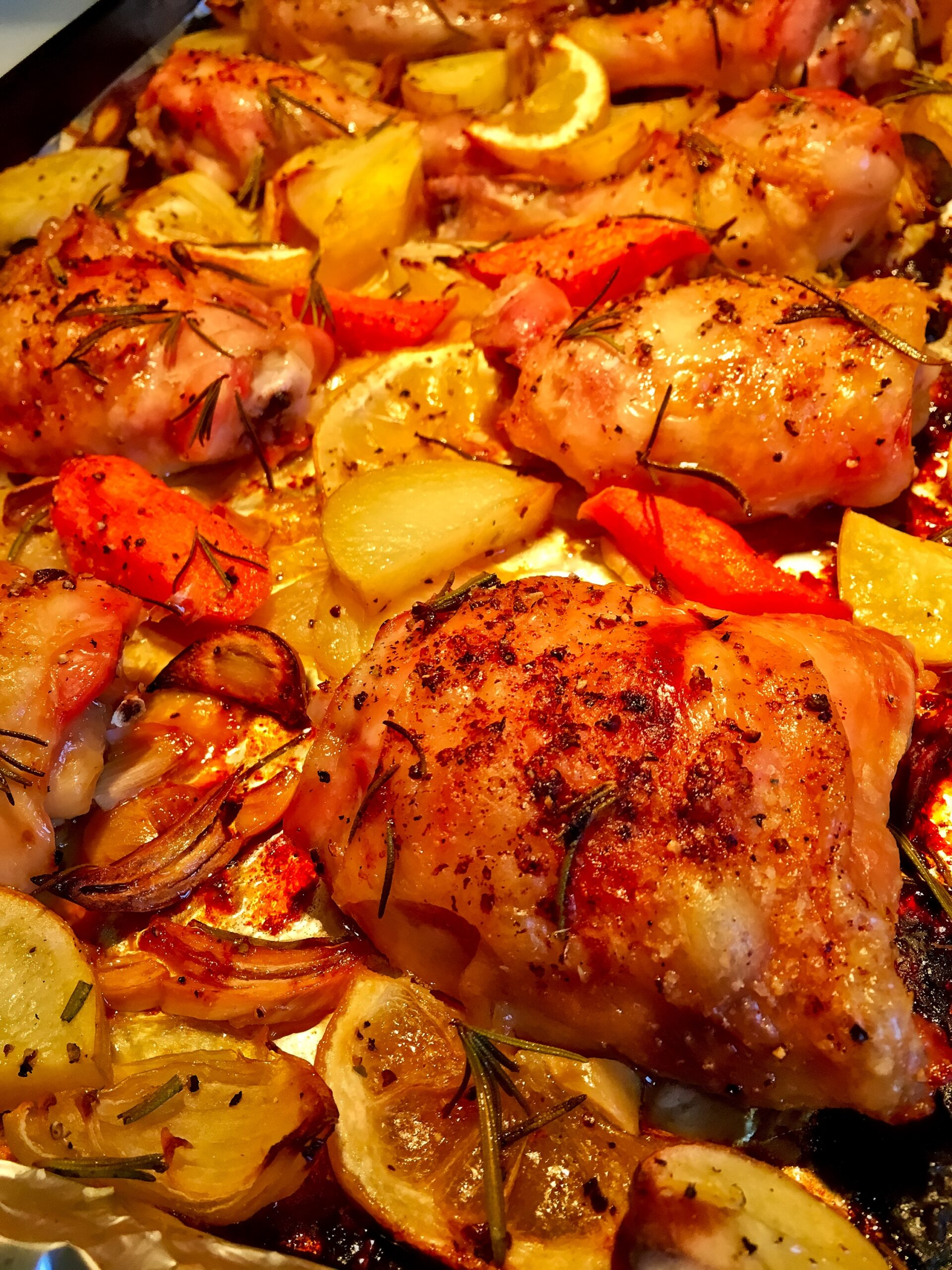 One Pan Roast Chicken And Vegetables Tuscan Style 183 Just