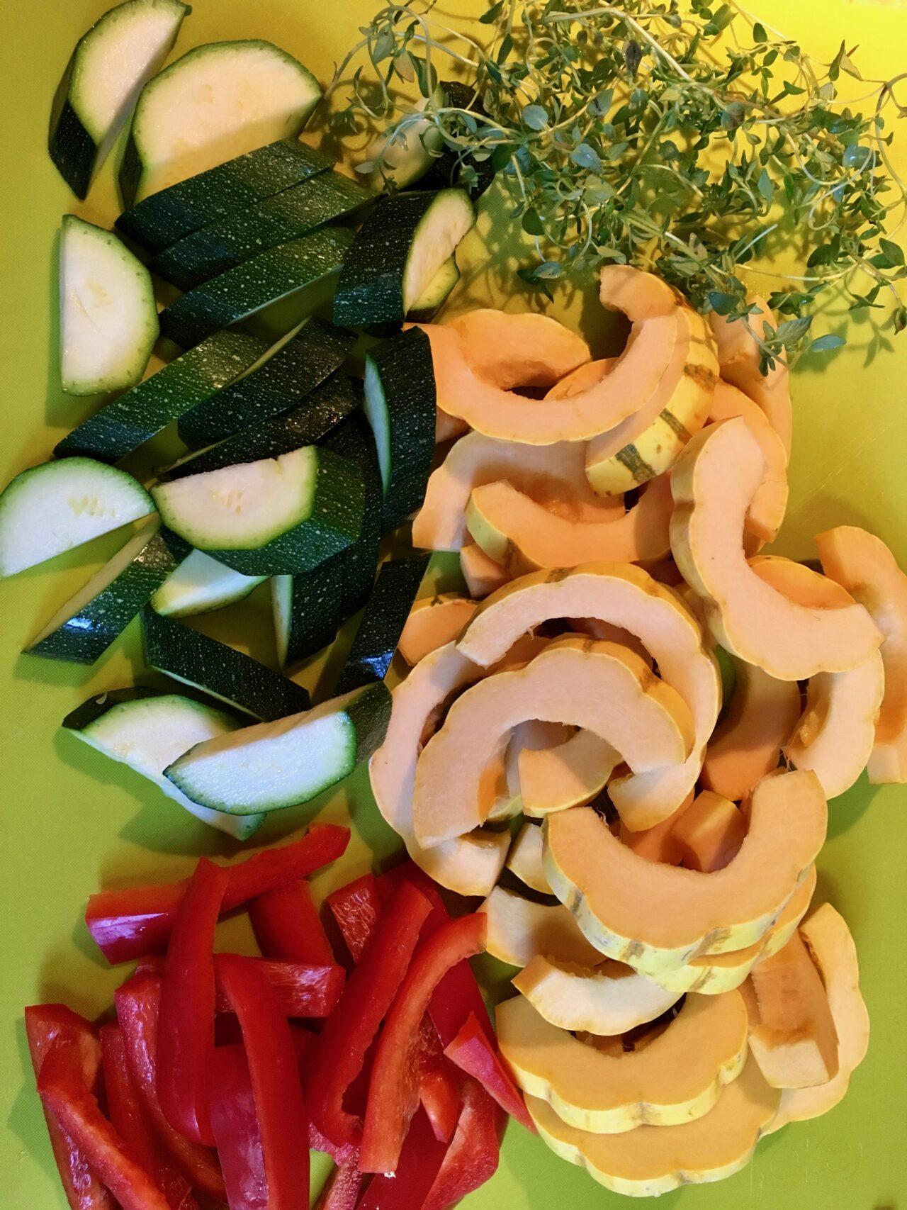 ingredients for autumn squash sauté